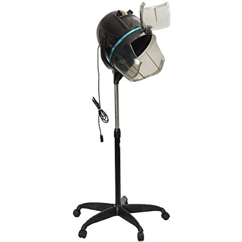 Adjustable Hood Floor Hair Bonnet DRYER Stand Up Rolling Base Salon Wheels