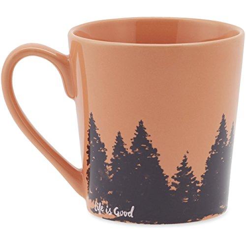 Life is good Everyday Tree Wrap Mug, Fresh Coral, One Size