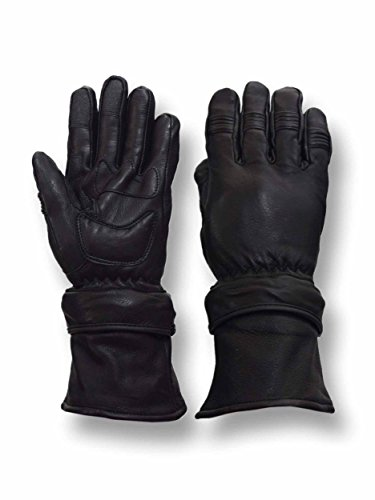 Vance Leathers Men's Deerskin Gauntlet Motorcycle Gloves W/Removable Cuff - XXL