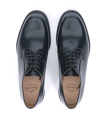 2wr Shannon Cuir Church's Chaussures À Noir En Lacets UxaPBOqB