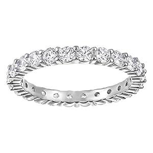 Swarovski–Anello Vittore in metallo con cristalli Swarovski Cristalli (argento) 15