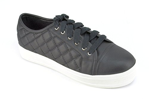 Steve Madden Elixer Women's Black Fashion Sneakers US5.5 by Steve Madden