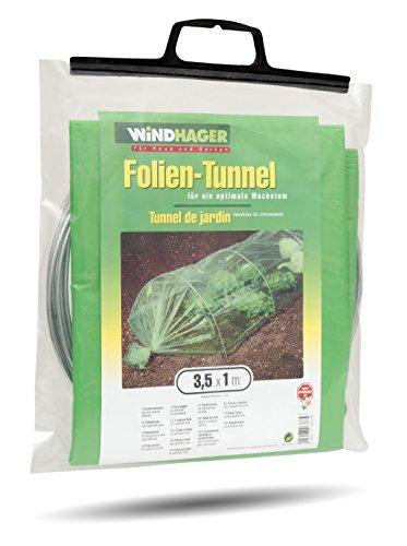 Windhager 06378 Folien-Tunnel Komplettset 3,5 x 1 m