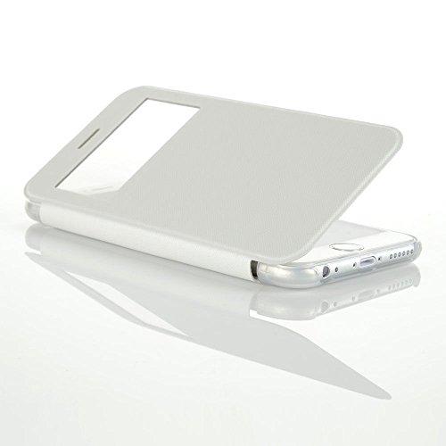 VSHOP ® Étui de protection à rabat pratique et chic pour Apple iphone 5 / 5S en Blanc
