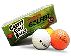 Crappy Golf Balls for a Crappy Golfer Gift Box EditionSome people having the heart of a golf pro, but the skills of a blindfolded orangutan. This sleeve of crappy golf balls is just the gift for these hilariously sad creatures. These appropri...