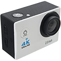 Aurorax Waterproof 4K Wifi HD 1080P Ultra Sports Action Camera DVR Cam Camcorder (White)