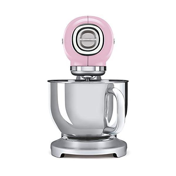 Smeg 1950's Retro Style Aesthetic Stand Mixer (Pink) 2