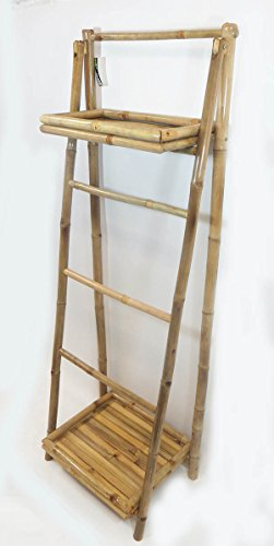 5' Ladder Rack (5' Bamboo Ladder Rack with two shelves, 19