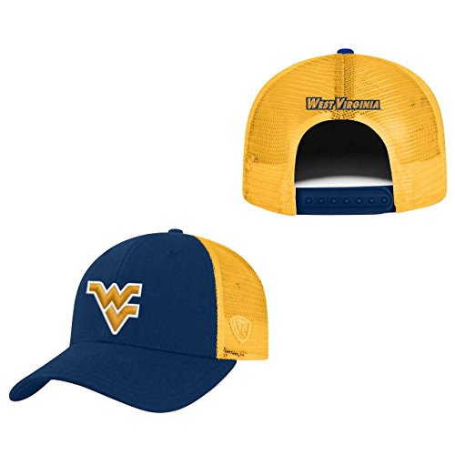 Top of the World West Virginia Mountaineers Adult NCAA Team Spirit Structured Fit Meshback Hat - Team Color,