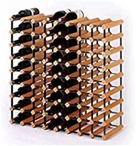 Z&HAO Gabinete De Madera del Vino del Almacenamiento del Hierro De La Madera Sólida Gabinete Clásico De Madera para Las Botellas - Tienda/Estante De La Vinoteca,72Bottle[Clase de eficiencia energética A]