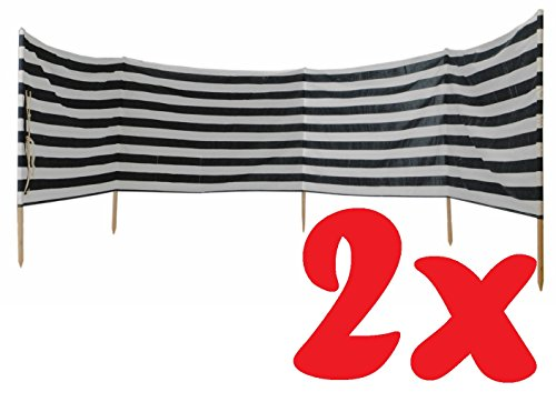 41R8KPT6OLL Idena Windschutz für Strand Camping und Garten, ca. 8 m x 80 cm