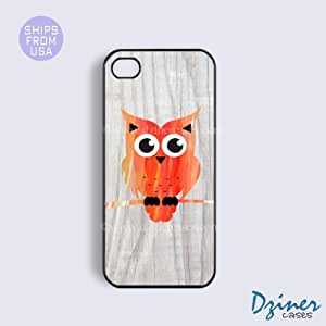 iPhone 5c Tough Case - Colorful Owl Wood Print iPhone Cover
