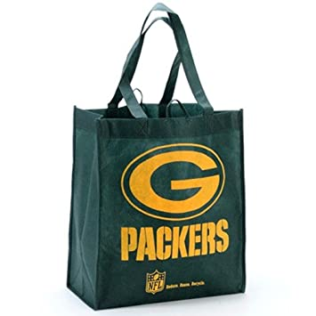 Amazon.com: Green Bay Packers Green Reusable Tote Bag: Reusable ...