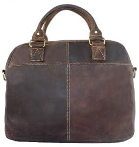 Secuda Vintage Cowhide Leather Shoulder iPad Tablet PC Bag / Case Messenger Satchel Hand Bag Brown Coffee + Multi-card Slots Design from SECUDA