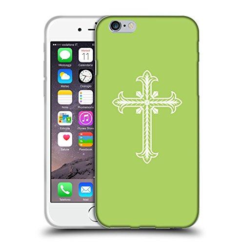 """GoGoMobile Coque de Protection TPU Silicone Case pour // Q09200628 Croix chrétienne 30 poule // Apple iPhone 6 PLUS 5.5"""""""