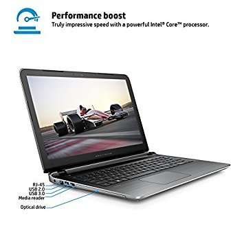"Price comparison product image 2016 HP Pavilion 15.6"" Full HD High Performance Laptop, Intel Core i5-6200U Processor, 6GB RAM, 1TB HDD, 7.5-hour Battery Life, DVD+/-RW, Webcam, WIFI, HDMI, Windows 10"