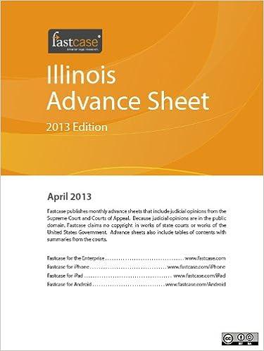Illinois Advance Sheet April 2013