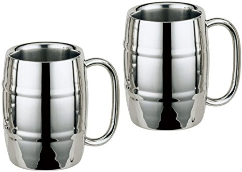 Stainless Steel Mug, Barrel Mug, Coffee Mug, Beer Mug 16oz (2)