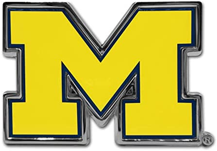 Many Available! University of Michigan Wolverines Metal Auto Emblem Banner