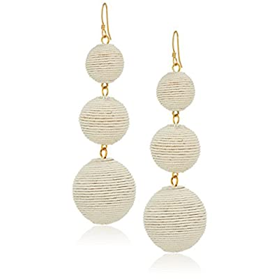 Wholesale Kenneth Jay Lane Thread Wrapped Ball Drop Earrings supplier
