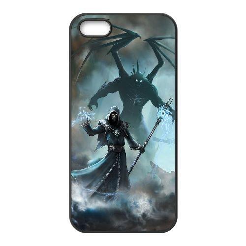 Elemental Fallen Enchantress 33 333 coque iPhone 5 5S Housse téléphone Noir de couverture de cas coque EOKXLLNCD17177