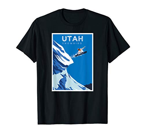 Utah Snowbird Snowboard Ski Resort Snow Winter Sports Gift T-Shirt