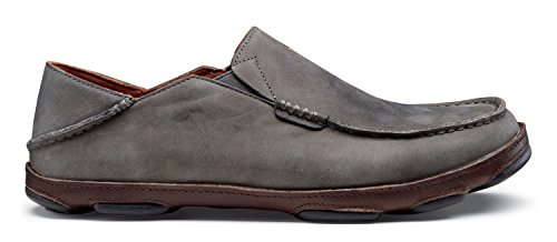 OluKai Moloa Shoe - Men's Storm Gray/Dark Wood 10.5 by OluKai