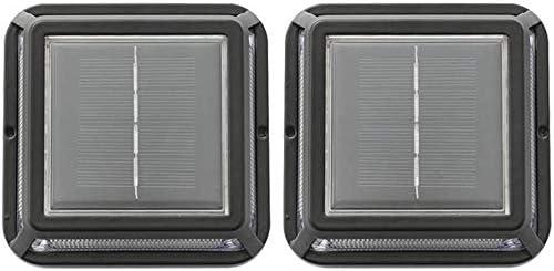 2 Piezas De LED Impermeable Al Aire Libre Luz Solar Del Jardín Hogar De Escalera De Luz Lámpara De Pie Camino: Amazon.es: Iluminación