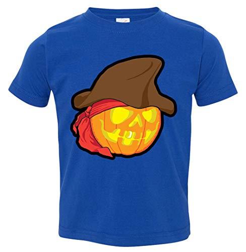 (Tenacitee Toddler's Pirate Pumpkin T-Shirt, 3T, Royal Blue)