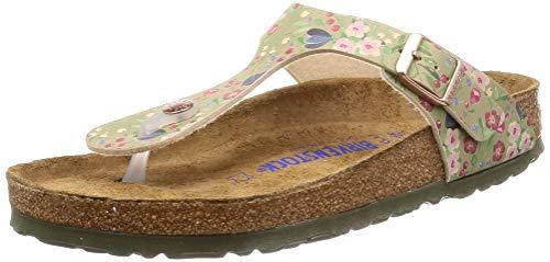 Birkenstock Unisex Gizeh Soft Footbed Birko-Flor Khaki Sandals 7 W / 5 M US