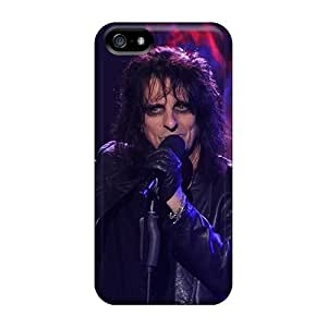 Shock Absorption Hard Phone Covers For Iphone 5/5s (NMw2116TWGn) Custom Lifelike Alice Cooper Band Image