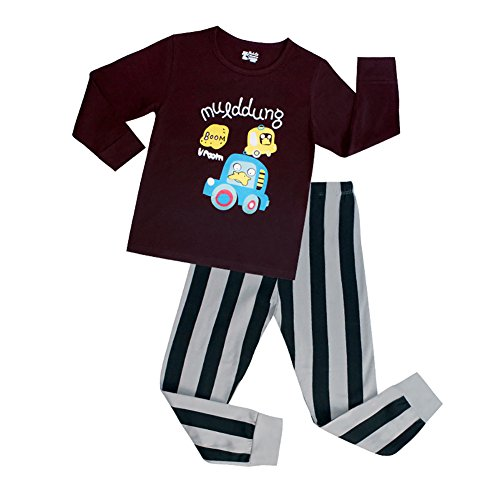 [VICVIK Baby and Little Boy car Pajama Sets 2 Piece 100% Cotton Size 2-7T (6T)] (Car Wash Costume Ideas)