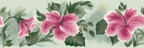 ders and More Playful Floral Wall Border, 6.875-Inch by 180-Inch ()