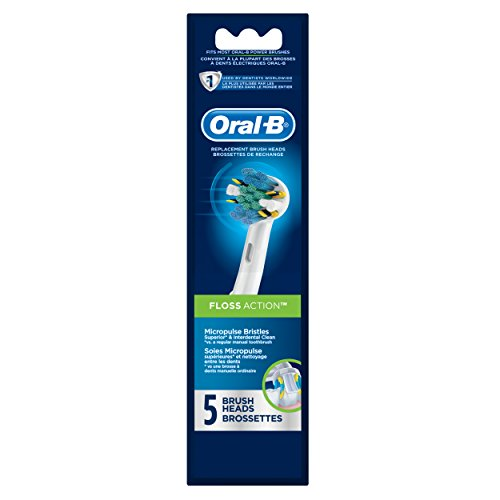 Oral-B Floss Action Replacement Electric Toothbrush Head 5 Count