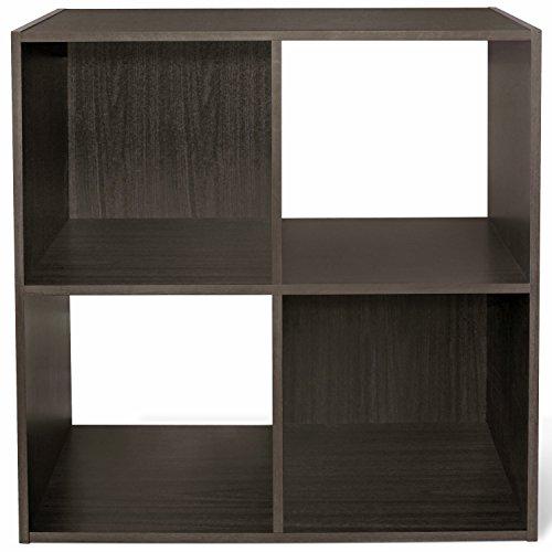 CAP LIVING 4/6/8 Cube Room Organizer Shelf, Storage Divider, 2 x 2/2 x 3/2 x 4 Bookcase, Colors Available in Espresso and White (Espresso, 4 Cube)