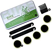 8 Pieces Bike Pre-Bonded Patch Puncture Repair kit,Bicycle Inner Tube Repair kit, Include tire tie rods, tire