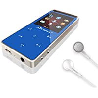 Bluetooth M01 MP3 Music Player with FM Radio/ E-book by Dansrue, 1.8 Inch TFT Screen, 60 Hours Playback and Expandable Up to 128GB, Blue