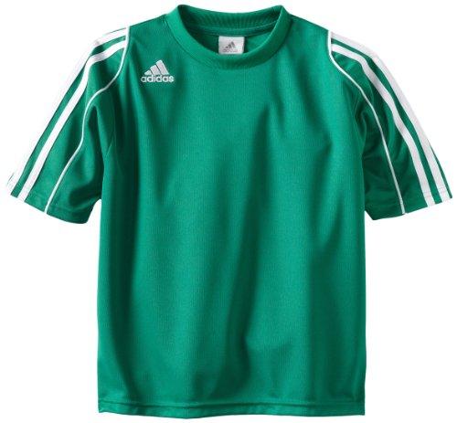 adidas Squadra II Soccer Jersey (Twlight Green/White) - Youth X-Large