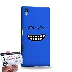 Case88 [Sony Xperia Z5] 3D Printed Snap-on Hard Case & Warranty Card - Art Fashion Grin Kawaii Emoticon Edition