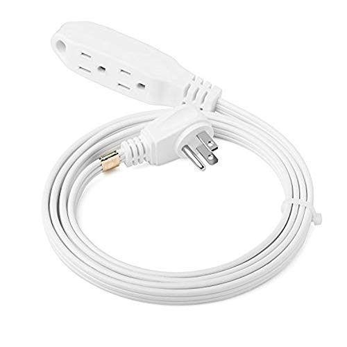 - ClearMax 6 Feet 3 Outlet Extension Cord 16AWG Indoor/Outdoor Use with Waterproof Safety Cover - 2 Prong Type A - UL Listed