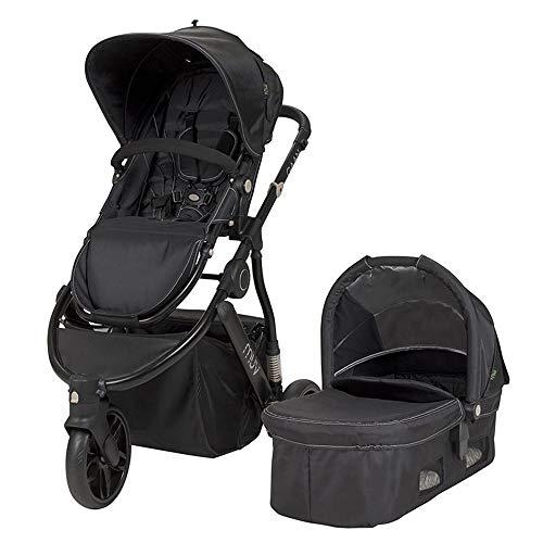 Muv Baby Trend Gaan Stroller, Satin Black/Mystic Black