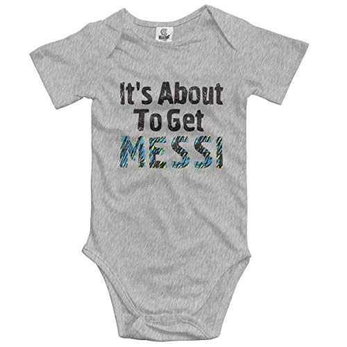 4baa022251f3 sport outdoor 003 It¡¯s About to Get Messi Infant Short-Sleeve Bodysuit  Baby Boys Girls Gray