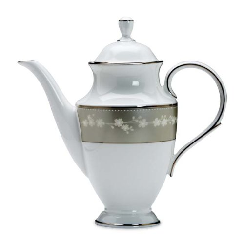 Pot Coffee Platinum Banded (Lenox Bellina Bone China Platinum Banded Coffeepot)
