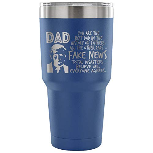 (Trump Tumbler For Dad, Donald Trump Christmas Gift, Funny Trump Mug, Trump Christmas Gift, Dad Christmas Gift, Grandpa Christmas Gift (Blue))