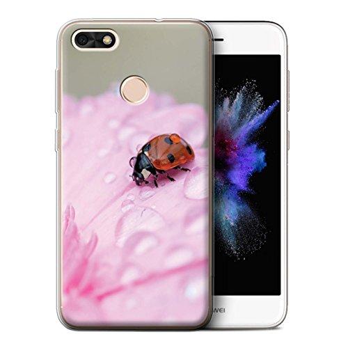 STUFF4 Gel TPU Phone Case / Cover for Huawei P9 Lite Mini / Ladybird Bug Design / English Gardens ()