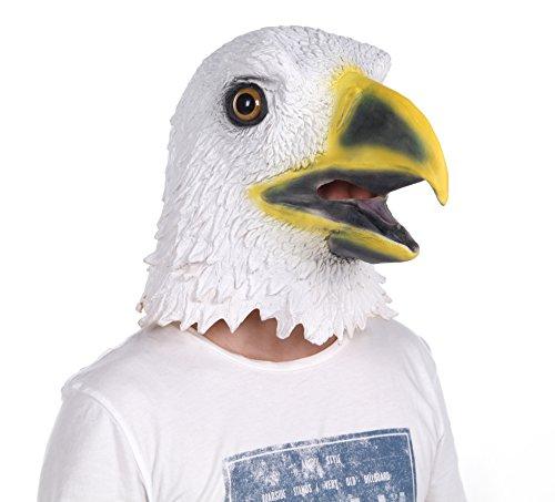 Child Bald Head Costume (LUBBER Costume Bald Eagle Latex Animal Head Mask White)