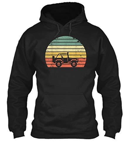 Unisex Hoodie Vintage for Jeeps 70s Off Road Sunset Hoodie Hoodie Warm Slim Hooded Sweatshirt Outwear Sweater Vintage Hoodie Outfit