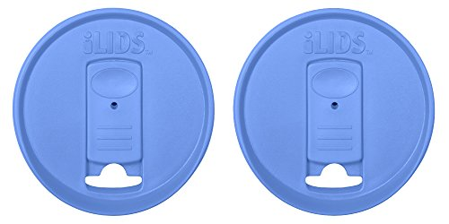 ILIDS Mason Regular Mouth Jar Drink Lid (2 Pack), Periwinkle