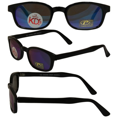 Original KD's Biker Motorcycle Sunglasses Various MIRRORED Lenses Select Basic Lens Color: Clear Colored - Coloured Mirrored Sunglasses