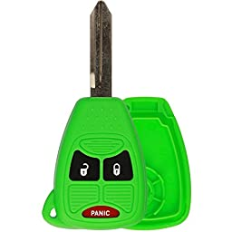 KeylessOption Just the Case Keyless Entry Remote Control Car Key Fob Shell Replacement for OHT692427AA-Green